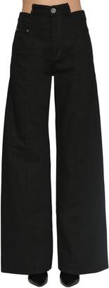 Maison Margiela Wide Leg Cotton Drill Pants