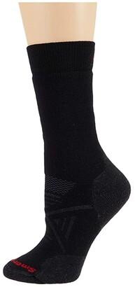 Smartwool PhD(r) Nordic Medium (Black) Crew Cut Socks Shoes