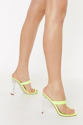 Nasty Gal Womens Heard You Loud and Clear Neon Heels - Green - 5