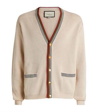 Gucci Web Stripe Knitted Cardigan