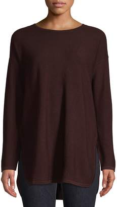 Eileen Fisher High-Low Merino Wool Tunic