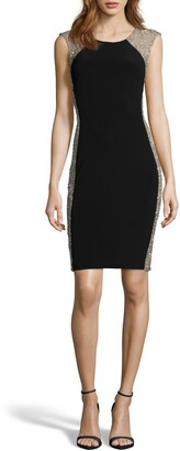 Xscape Evenings Beaded Body-Con Cocktail Dress
