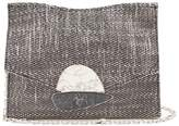 Proenza Schouler Curl small tweed and leather clutch
