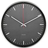 Karlsson Hologram Aluminium Glass Clock (Black)
