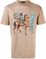 Versace Pegasus logo print T-shirt - men - Cotton - S