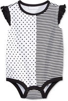 First Impressions Dots & Stripes Heart Cotton Snap-Up Bodysuit, Baby Girls (0-24 months), Created for Macy's