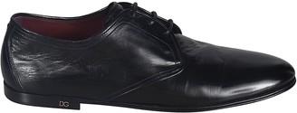 Dolce & Gabbana Logo Plaque Detail Flat Sole Oxford Shoes