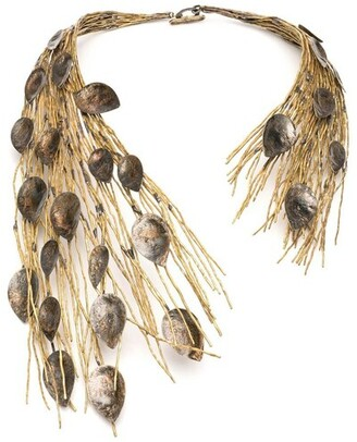 Natori Gold Plated Brass Peacock Necklace