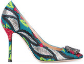 Gucci tiger's head embroidered pumps - women - Leather/Polypropylene - 37