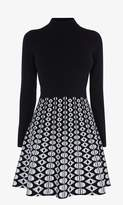 Karen Millen Geo-Print A-Line Knit Dress