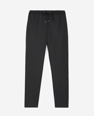 The Kooples Roomy black trousers in wool w/elastic band