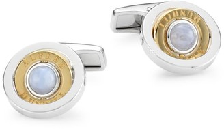 Dunhill Duke Sterling Silver & Chalcedony Cufflinks