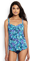 Lands' End Women's Shaping Underwire V-neck Tankini Top-Laguna Green