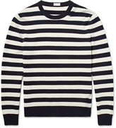Saint Laurent - Distressed Striped Wool And Cashmere-blend Sweater