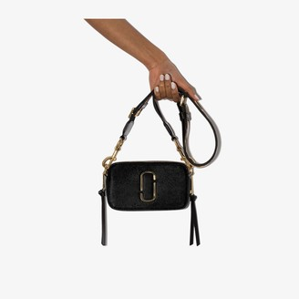 Marc Jacobs Black Snapshot leather cross body bag
