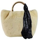 Un Billion UN Billion Faux Fur Handbag with Gold Accents -Estelle