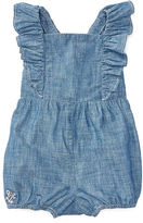 Ralph Lauren Girl Cotton Chambray Romper