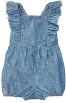 Ralph Lauren Girl Cotton Chambray Romper