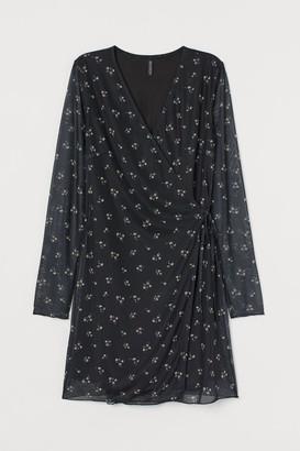 H&M Mesh Wrap Dress - Black