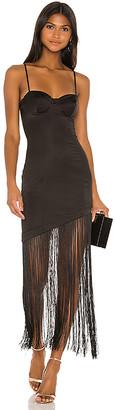 NBD Chris Fringe Midi Dress
