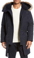 Vince Microfleece Genuine Coyote Fur Trim Parka Jacket