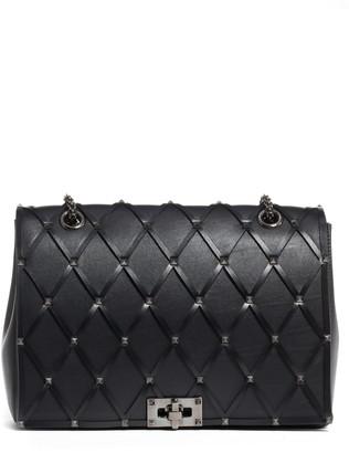 Valentino Beehive Leather Shoulder Bag