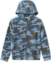 Joe Fresh Kid Boys' Print Hoodie, Dusty Blue (Size L)