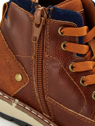 Very Boys Elastic Lace Zip Boots - Tan