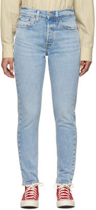 Levi's Levis Blue 501 Stretch Skinny Jeans