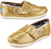 Toms Gold Glitter Shoe, Tiny