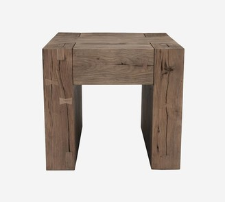 "Pottery Barn Raymond 24"" Reclaimed Wood End Table"