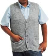 CELITAS DESIGN Vest alpaca and blend V neck buttons made in Peru Silver L