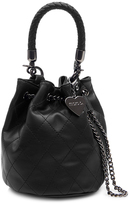 Marc B Bunny Mini Black Duffle Bag