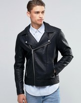 Esprit Faux Leather Biker Jacket
