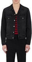 Gucci Men's Cotton Embroidered & Appliquéd Trucker Jacket-BLACK