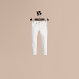 Burberry Skinny Fit Cotton Blend Jeans