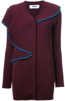 MSGM oversized ribbed cardigan - women - Wool - M