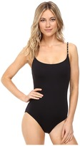 MICHAEL Michael Kors Chain Solids Classic One-Piece Women's Swimsuits One Piece