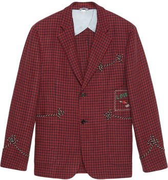 """Gucci Linen jacket with """"Cassandra"""" patch"""