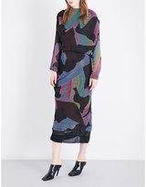 Anglomania New Fond abstract striped chiffon dress