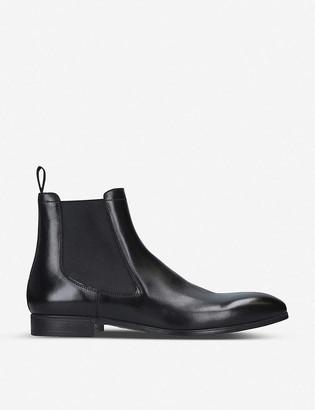 Santoni Simon leather Chelsea boots