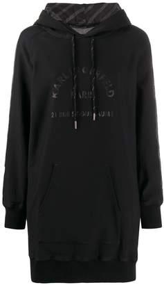 Karl Lagerfeld Paris hooded sweatshirt dress