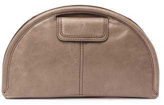 Hobo Compass Leather Half Moon Clutch