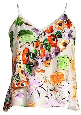 Alice + Olivia Women's Lavonia Floral Cascading Ruffle Cami