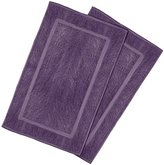 Ringspun Utopia Towels 21-Inch-by-34-Inch Cotton Washable Bath Mat, 2 Pack, Plum
