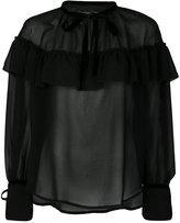 Christian Pellizzari ruffle detail blouse