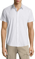 Theory Sylvain Short-Sleeve Shirt, White