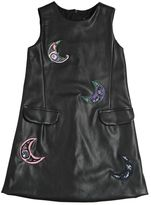 MSGM Embellished Patches Faux Leather Dress