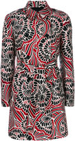 RED Valentino floral print coat - women - Polyester/Acetate - 38
