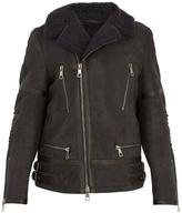 Neil Barrett Contrast-collar leather jacket